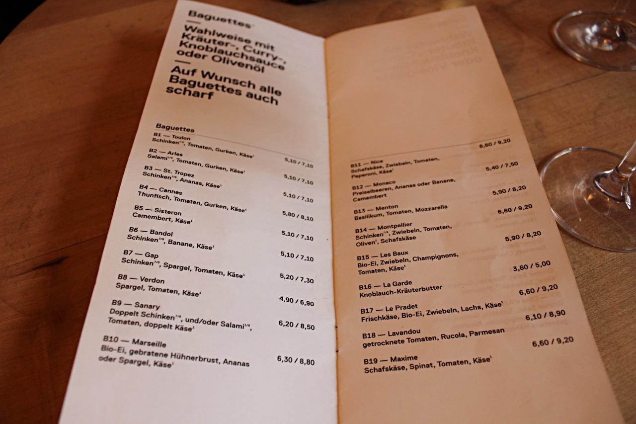Lavandou Mannheim Speisekarte