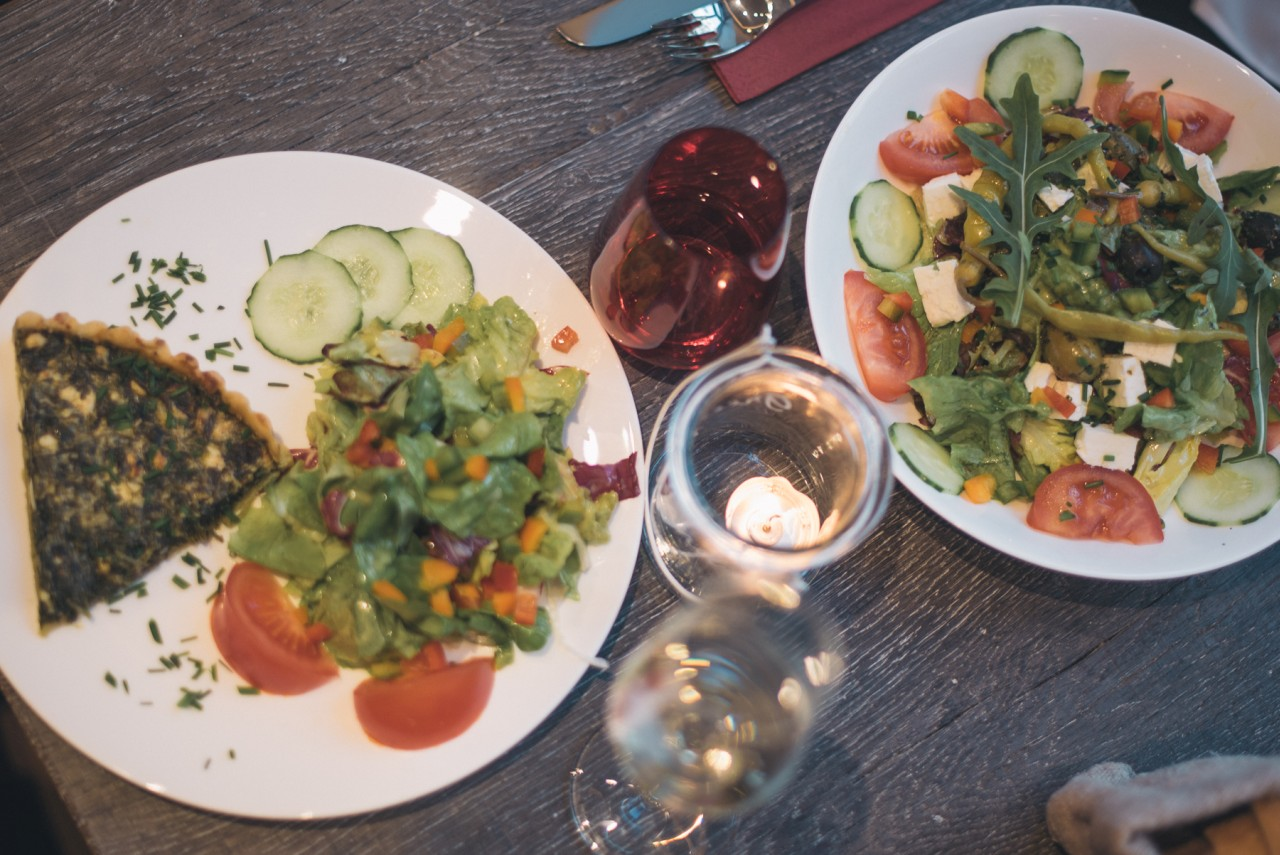 Metzgerei Mannheim Salat und Quiche