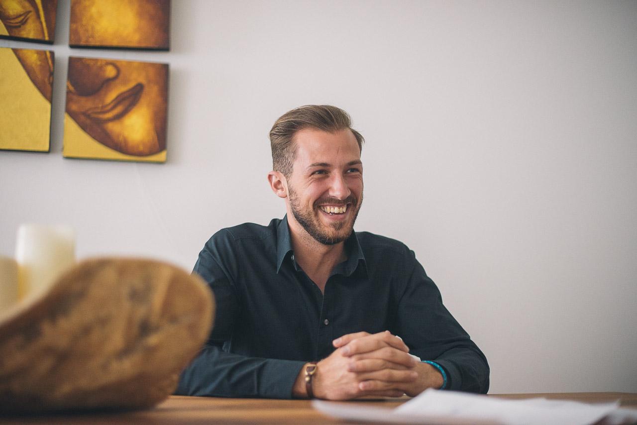 Patrick, Leiter des Eventmanagements der Universität Mannheim
