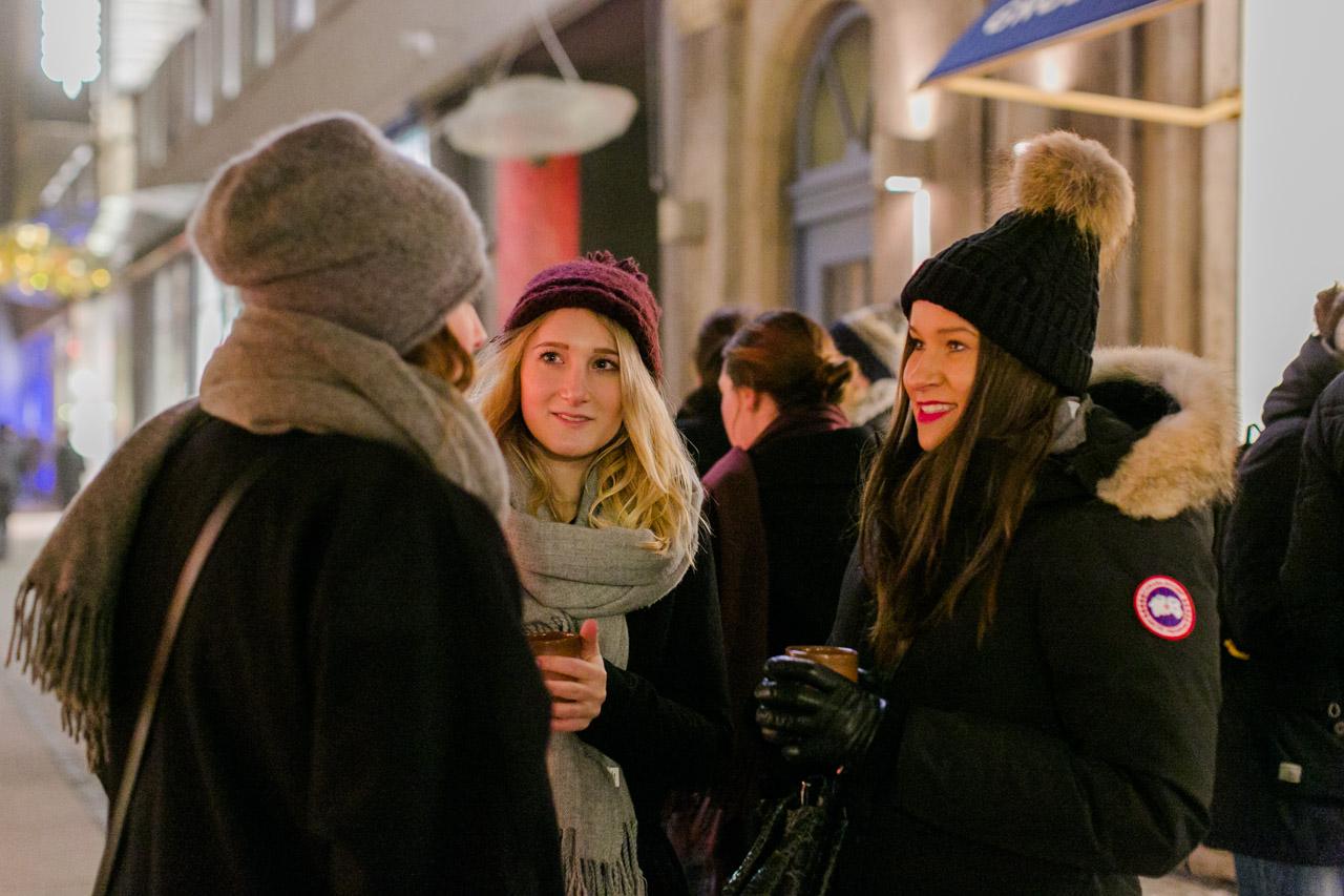 Autorin Nadine auf dem Mannheimer Weihnachtsmarkt
