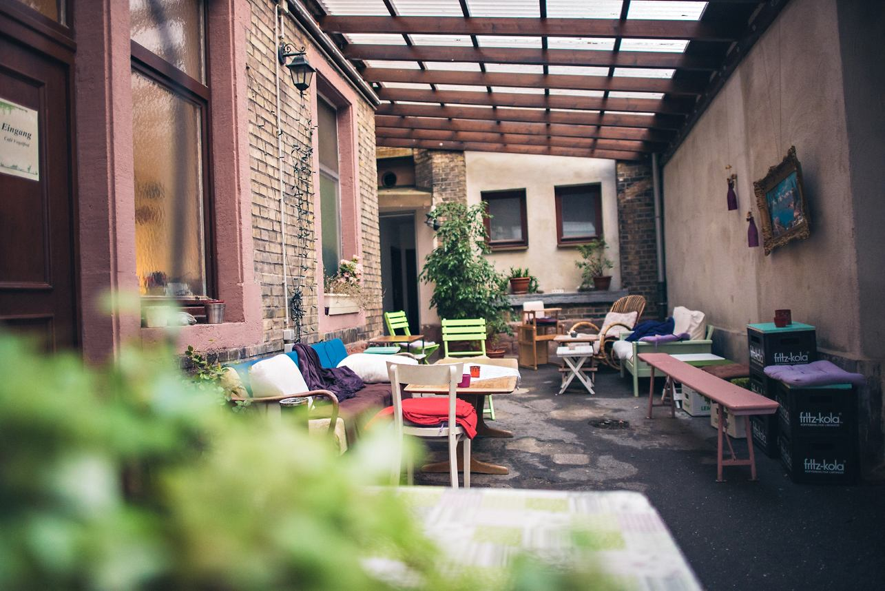 Café Vogelfrei Innenhof