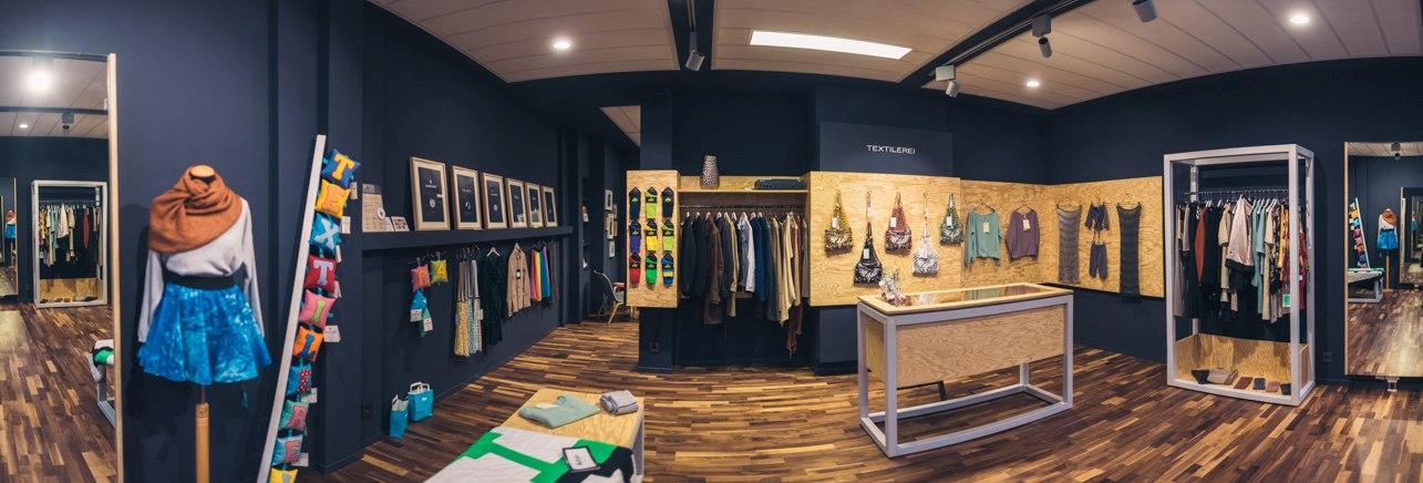 Textilerei Panorama Laden